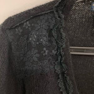 Dex Cardigan With Lace Front and Shoulders
